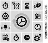 clock icons   Shutterstock .eps vector #134132651