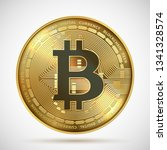 bitcoin coin. cryptocurrency... | Shutterstock .eps vector #1341328574