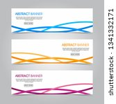 modern flat wave banner...   Shutterstock .eps vector #1341332171