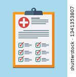 medical report  prescription ... | Shutterstock .eps vector #1341353807