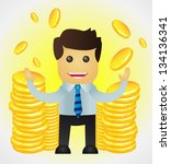 successful business man with... | Shutterstock .eps vector #134136341