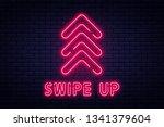 swipe up  button for social... | Shutterstock .eps vector #1341379604