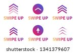 swipe up  set of buttons for... | Shutterstock .eps vector #1341379607