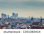 the business district and roofs ... | Shutterstock . vector #1341383414