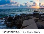 landscape of the sundown in sea ... | Shutterstock . vector #1341384677