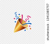 party popper icon. isolated on... | Shutterstock .eps vector #1341385757