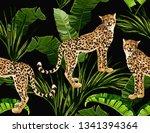 beautiful seamless vector... | Shutterstock .eps vector #1341394364