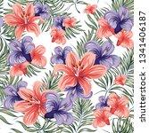 roses. blooming spring summer...   Shutterstock .eps vector #1341406187