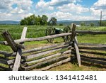 Cannon behind split rail fence - Antietam National Battlefield - Sharpsburg MD