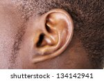 black male ear close up | Shutterstock . vector #134142941