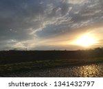 sundown with street | Shutterstock . vector #1341432797
