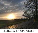 sundown with street | Shutterstock . vector #1341432881
