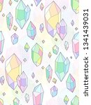 multicolor crystals on white... | Shutterstock .eps vector #1341439031
