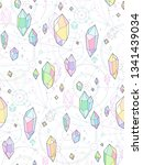 multicolor crystals on white... | Shutterstock .eps vector #1341439034