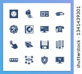 device icon set and power...