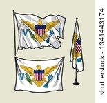 flag of virgin islands on the... | Shutterstock .eps vector #1341443174