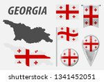 georgia. collection of symbols... | Shutterstock .eps vector #1341452051