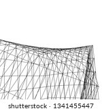 architectural drawing.... | Shutterstock .eps vector #1341455447
