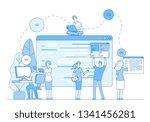programmers coding website.... | Shutterstock .eps vector #1341456281