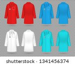 doctor coat. colorful lab... | Shutterstock .eps vector #1341456374