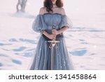 warlike girl with dark hair in...   Shutterstock . vector #1341458864