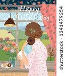 happy mother's day  vector...   Shutterstock .eps vector #1341479354