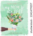 happy mother's day  vector... | Shutterstock .eps vector #1341479357