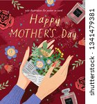happy mother's day  vector... | Shutterstock .eps vector #1341479381