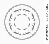 measuring circle scale.... | Shutterstock .eps vector #1341484367