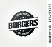 burger restaurant food icon | Shutterstock .eps vector #1341496394