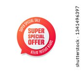 super special offer round... | Shutterstock .eps vector #1341496397
