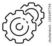 cog wheel gear icon. outline... | Shutterstock .eps vector #1341497744