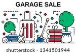 garage sale banner. outline...   Shutterstock .eps vector #1341501944