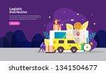 global logistic distribution... | Shutterstock .eps vector #1341504677