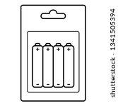 rechargeable batteries. vector... | Shutterstock .eps vector #1341505394