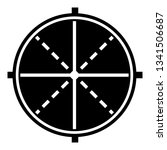 sniper optical aim icon. simple ... | Shutterstock .eps vector #1341506687