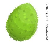 tasty whole durian icon.... | Shutterstock .eps vector #1341507824