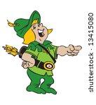 green archer pointing | Shutterstock .eps vector #13415080