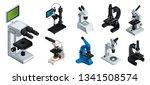 Microscope Vector Icons Set....