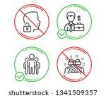 do or stop. group  unlock... | Shutterstock .eps vector #1341509357