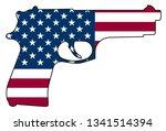 american flag handgun isolated... | Shutterstock .eps vector #1341514394