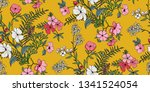 seamless floral pattern in... | Shutterstock .eps vector #1341524054