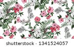 seamless floral pattern in... | Shutterstock .eps vector #1341524057