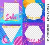 editable social media template. ... | Shutterstock .eps vector #1341524591
