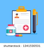 medicine health care vector... | Shutterstock .eps vector #1341530531