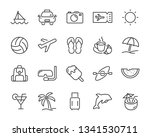 set of vacation icons  such as... | Shutterstock .eps vector #1341530711