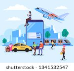 people characters reserved and... | Shutterstock .eps vector #1341532547