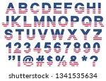 flat usa flag colors font ... | Shutterstock .eps vector #1341535634