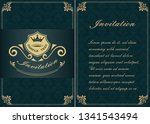 decorative frame in vintage... | Shutterstock .eps vector #1341543494