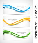 abstract banners | Shutterstock .eps vector #134155091